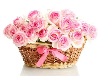 סלסלת פרחים 038