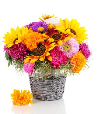 סלסלת פרחים 037