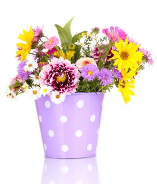 סלסלת פרחים 035