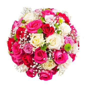 פרחים לאירועים -זר ורדים 013