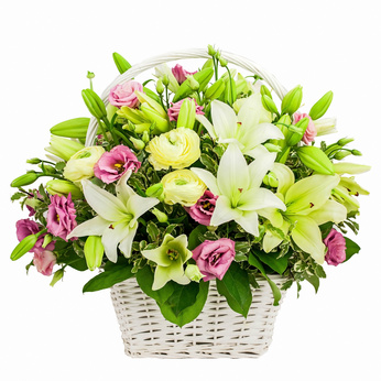סלסלת פרחים 2112