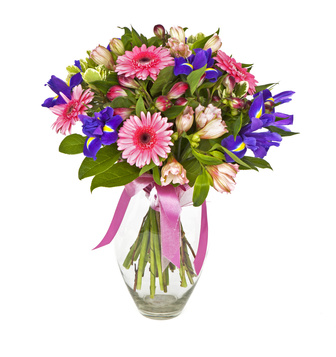 זר פרחים 016