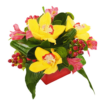 פרחים ליום הולדת -זר פרחים 015