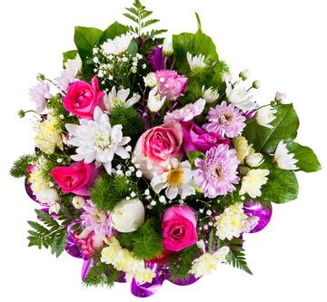 זר פרחים 14