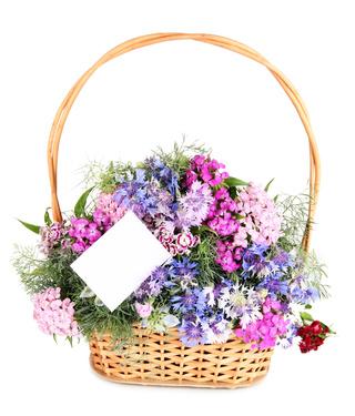 סלסלת פרחים 2627