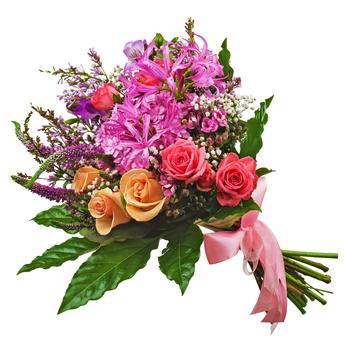 זר פרחים 009