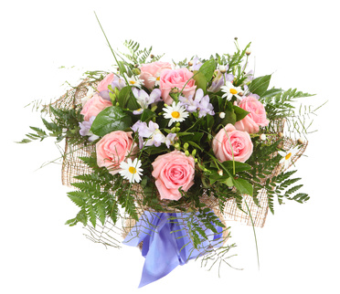 זר פרחים 008