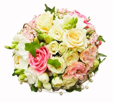 זר ורדים צבעונים